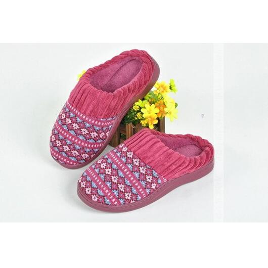 秋冬高級保暖針織絨拖鞋
