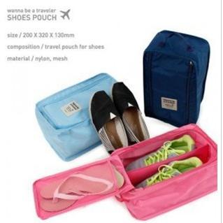 兩用旅行防水鞋袋/有內格鞋袋