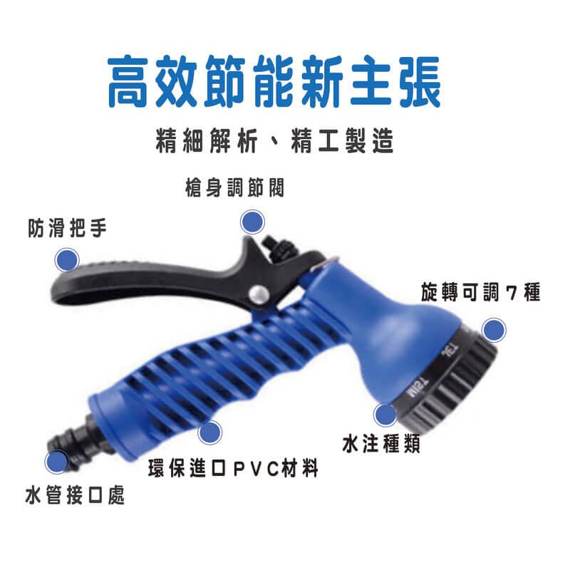 清潔神助手-防爆高壓彈力魔術伸縮水管(可伸7.5米)