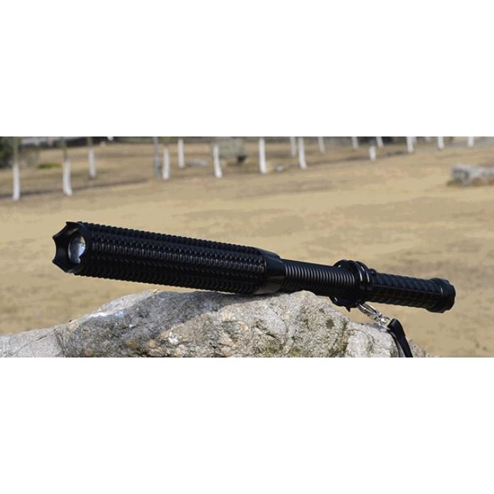 多段LED防身強光遠射防狼手電筒/伸縮狼牙棒手電筒
