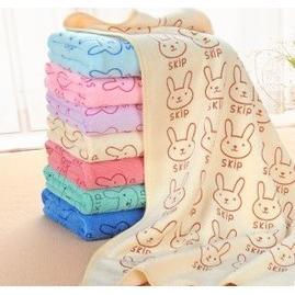 超細纖維兔子花紋柔膚超吸水速乾毛巾