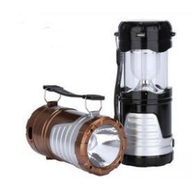 新款充電式太陽能露營燈手電筒(塑帶)
