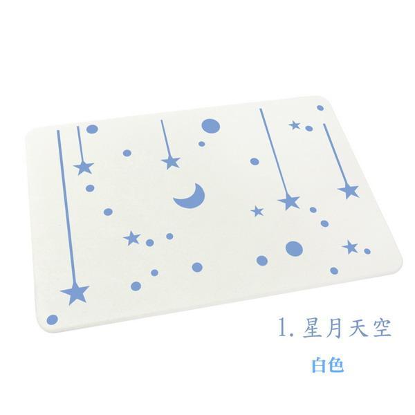 日本韩国大热销新款彩绘珪藻土地垫(60*39cm)