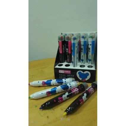 4色旋轉彩色蠟筆