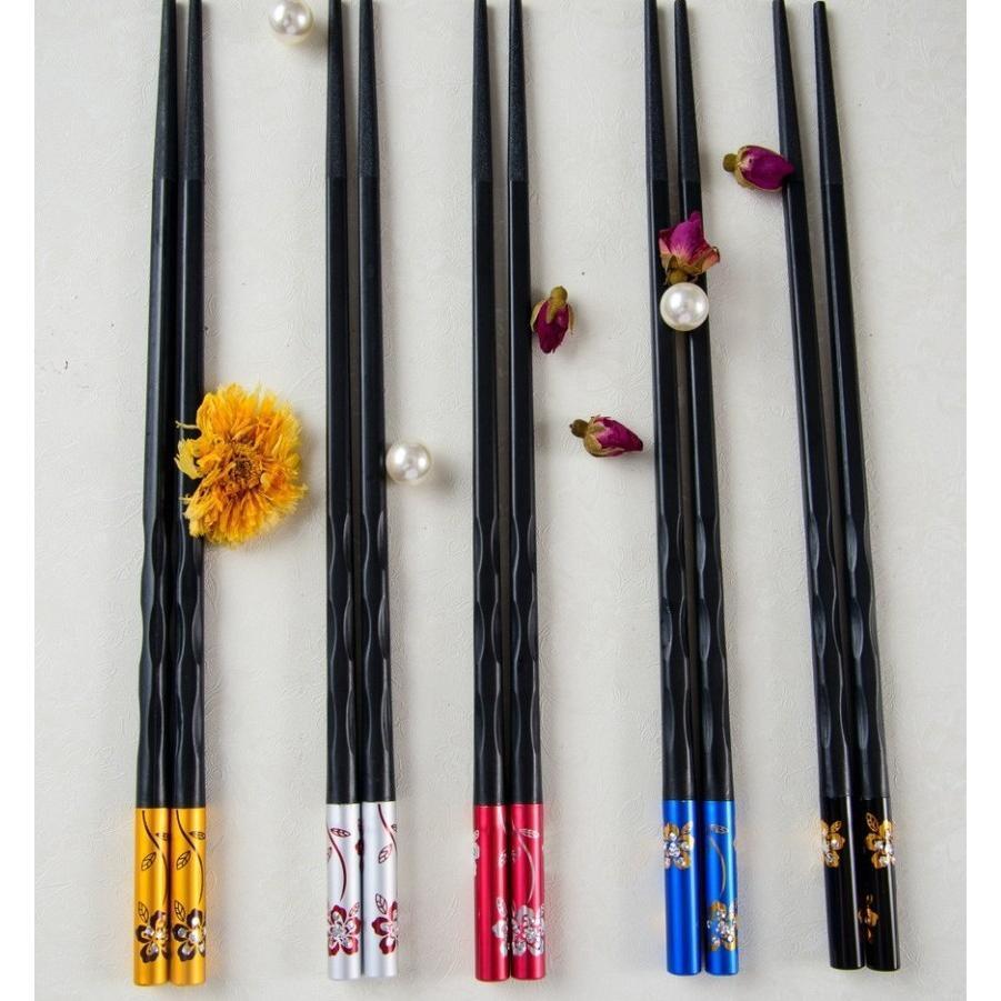 螺紋花之語合金筷子(5雙/包)