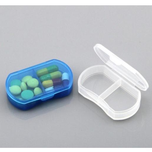 迷你便攜式小藥盒 2格