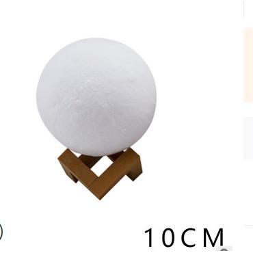 3D月球燈創意月亮燈(拍拍三色 10cm )