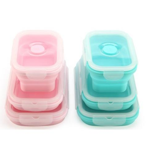 硅膠折疊保鮮盒便當盒套裝(三入)