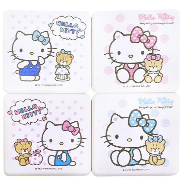 独家授权hello kitty珪藻土超吸水杯垫(彩色2入/盒)