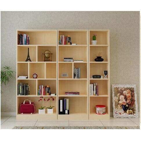 簡易實木書櫃書架組合置物櫃無門(180*24*60cm)