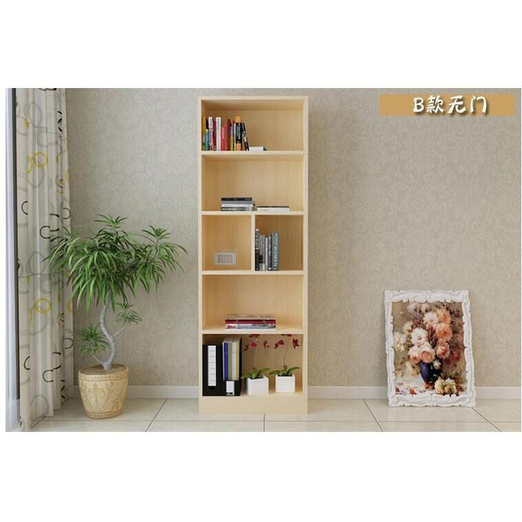 簡易實木書櫃書架組合置物櫃無門(180*24*100cm)