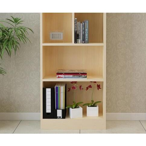 簡易實木書櫃書架組合置物櫃無門(180*24*120cm)