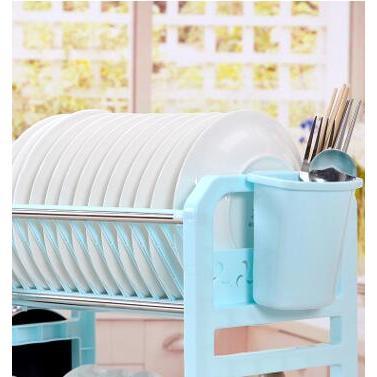 雙層瀝水架置物架餐具收納架