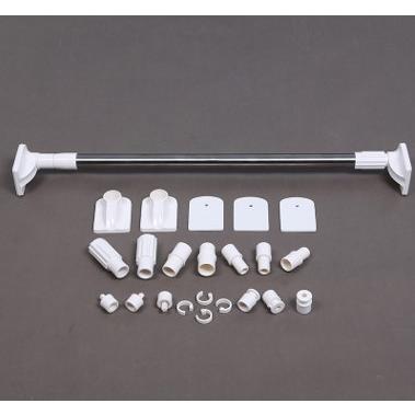 不銹鋼免打孔加厚伸縮桿(120-200cm)