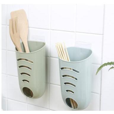 掛壁式塑料袋收納盒儲物架筷子籠
