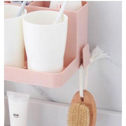 免打孔壁掛式牙刷桶置物架收納架
