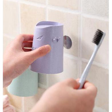 創意磁吸式牙刷杯牙刷架