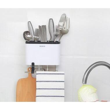 創意吸壁式收納瀝水免釘壁掛筷籠