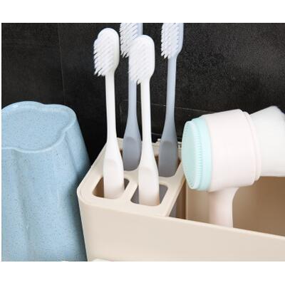 免打孔吸壁式牙刷置物架牙刷架