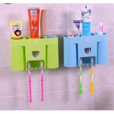 創意吸壁式牙刷架置物架