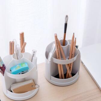 多功能旋轉筆筒收納盒儲物盒
