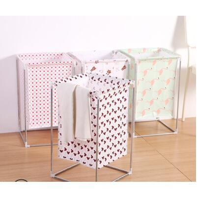 多功能折疊洗衣籃置物架