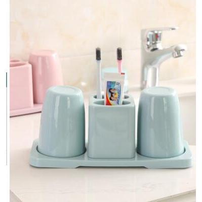 創意可拆卸耐摔雙杯牙刷架