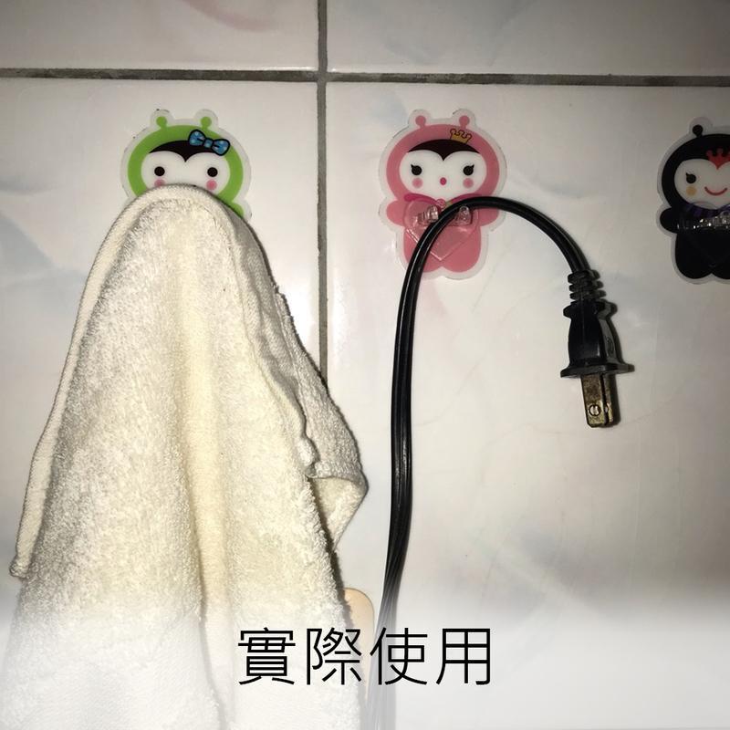 無痕卡通牙刷架/線頭收納架(掛勾)(4入組)