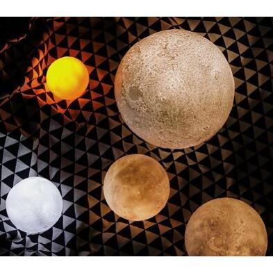 3D月球燈創意月亮燈(拍拍三色 22cm )