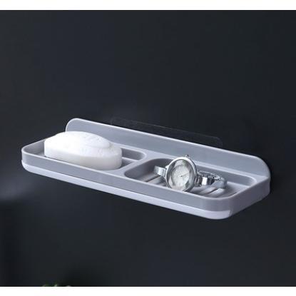 創意免打孔壁掛雙層雙排瀝肥皂盒