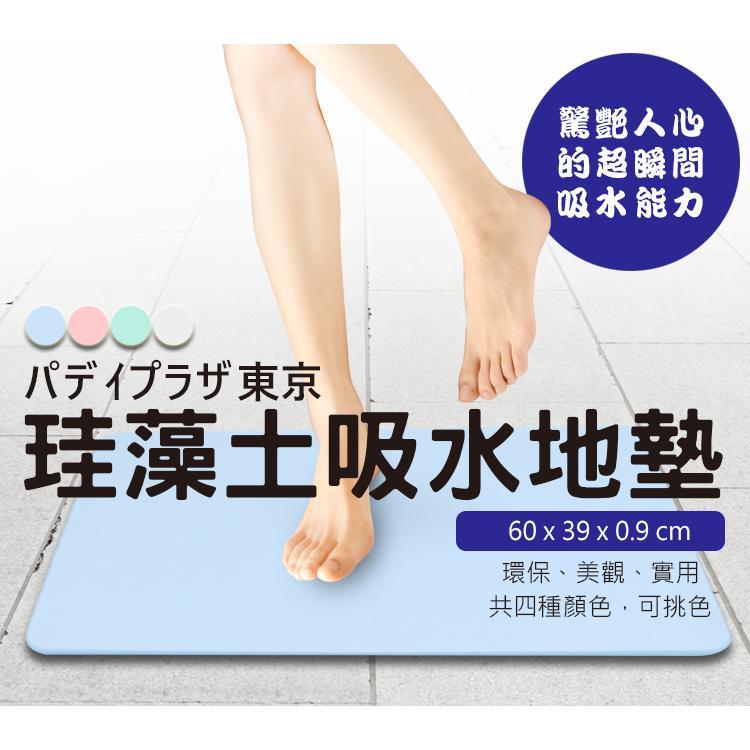 兩片裝日本PPT升級版超吸濕硅藻土地墊60*39