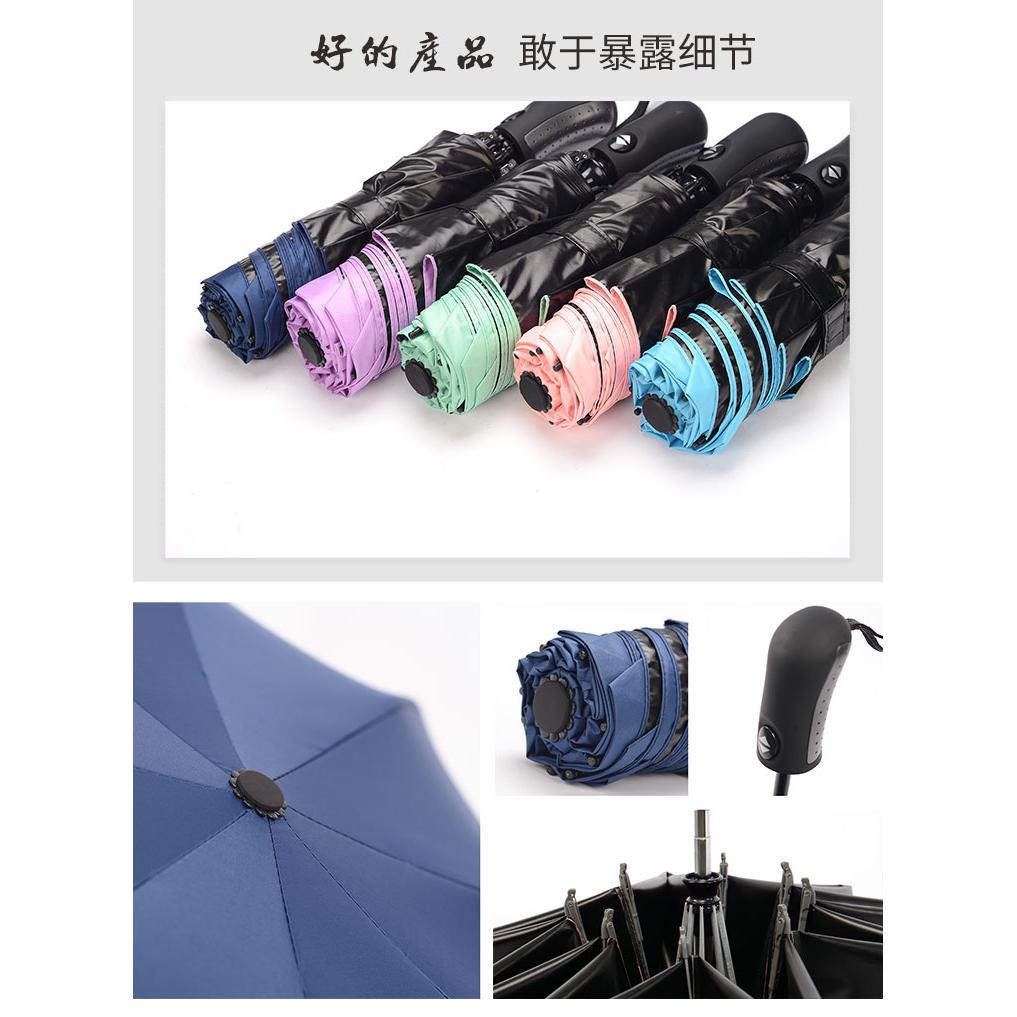 暢銷亞洲-開收自動黑膠反向傘