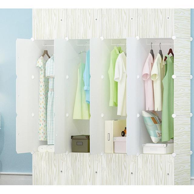 簡易組裝衣櫃收納櫃(20門4挂)