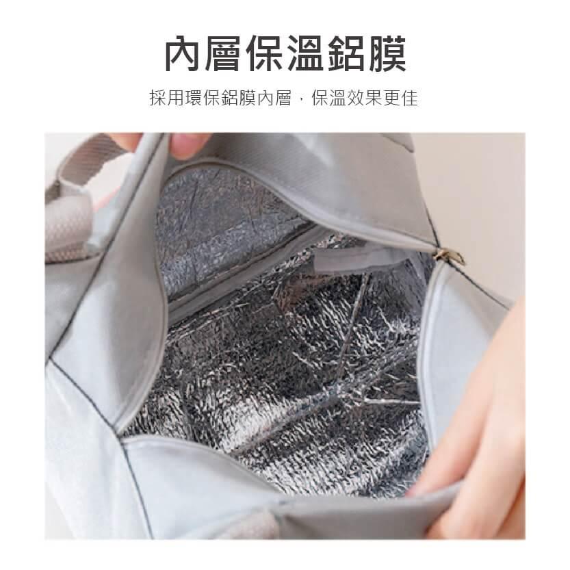 可愛圖案鋁箔加厚手提便當包保溫包