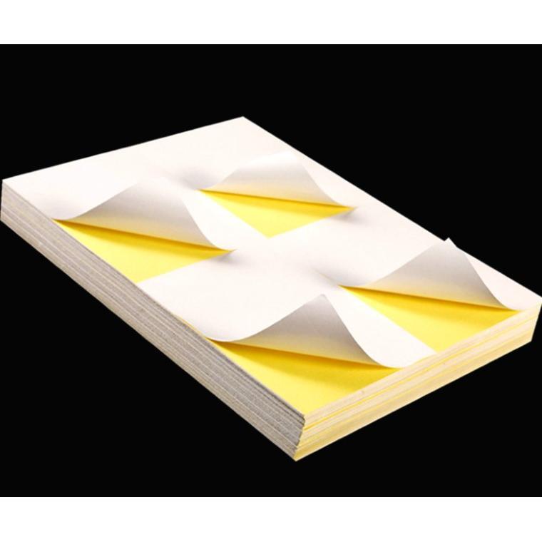 印超取專用-A4頂級亮面貼紙4格(100/包)