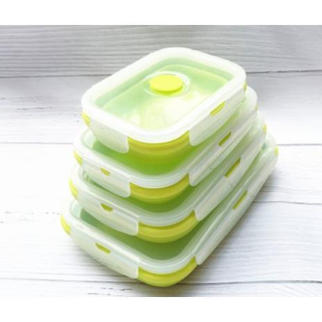 便攜折疊套裝飯盒便當盒(4件套)