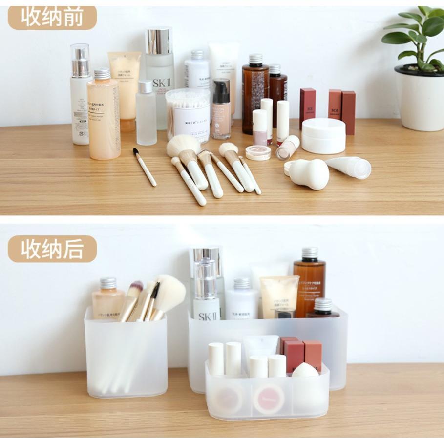 桌面收納盒整理盒(中號雙格)