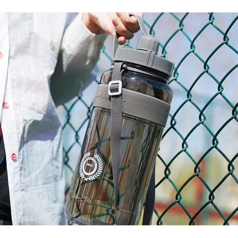 便攜帶吸管超大容量水杯水壺(1000ml)
