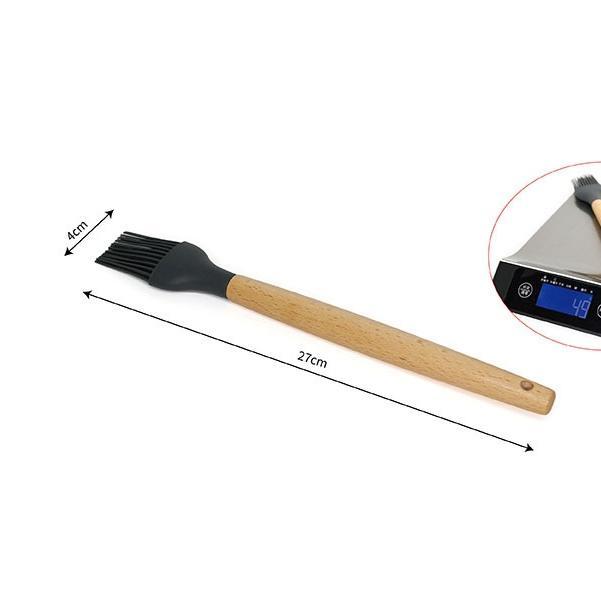 矽膠木柄廚具鏟勺工具套裝鏟湯撈籬勺創意烹飪廚具(刷子)