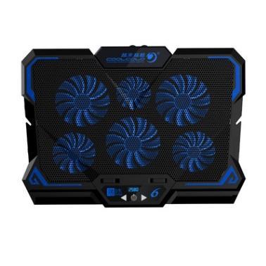 薄冰六風扇筆記本電腦散熱器(觸控版)