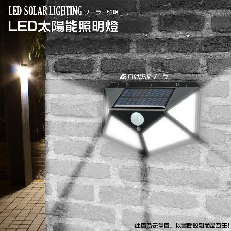 四面100LED戶外庭院感應燈