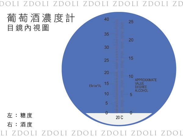 葡萄酒濃度計(0-25%)