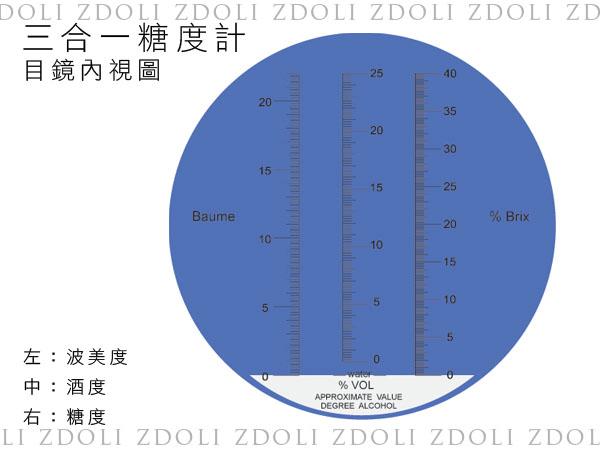 0-20度波美度糖度計三合一