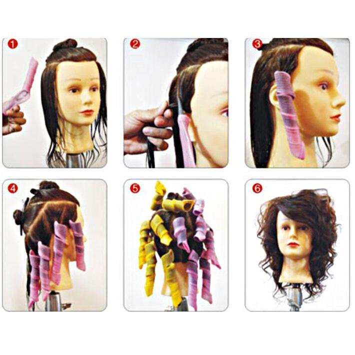 彩色彈力魔髮捲/捲髮器(19件組)