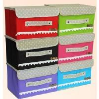 小號木扣收納箱/收納盒/無紡布收納箱