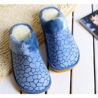 秋冬石頭紋防滑毛絨棉拖鞋