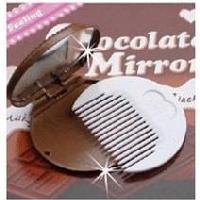 巧克力饼乾镜子梳子