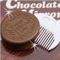 巧克力餅乾鏡子梳子