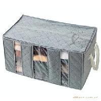 65L竹炭衣類整理袋/透明視窗整理箱