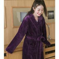 暖暖珊瑚絨男女浴袍睡袍